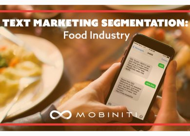 Text marketing segmentation: Food industry