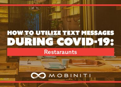 How to Utilize Text Messages During COVID-19: Restaurants