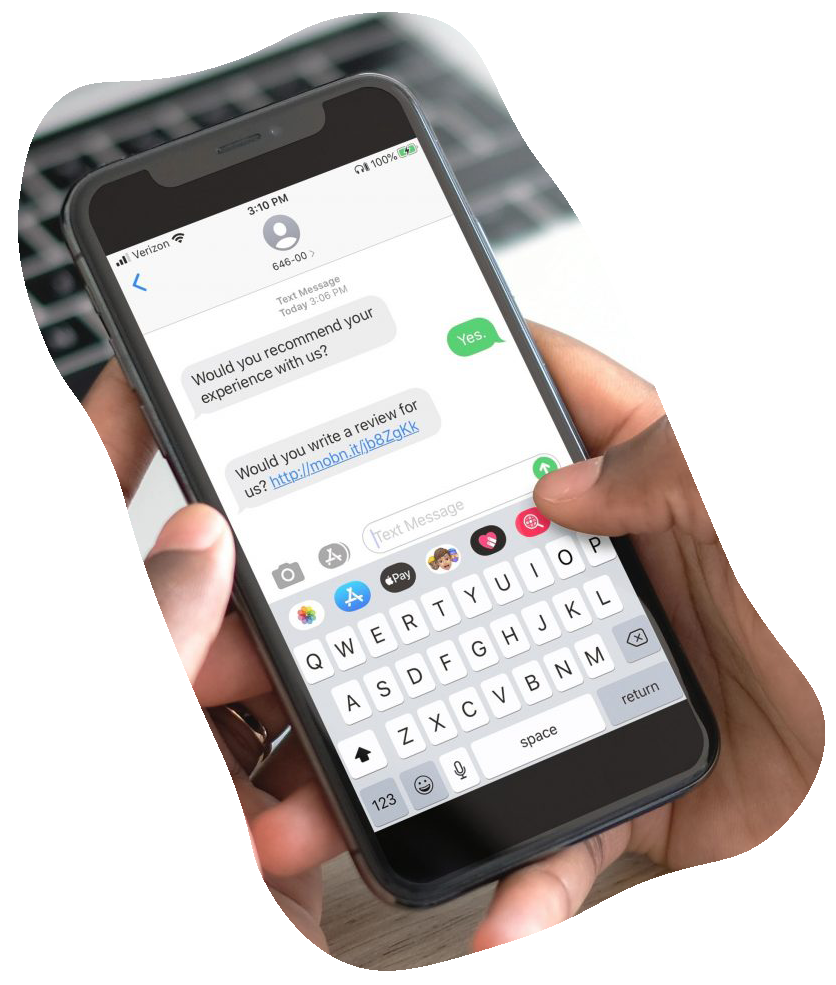 Use our feedback & review to learn how to improve your service and text marketing.