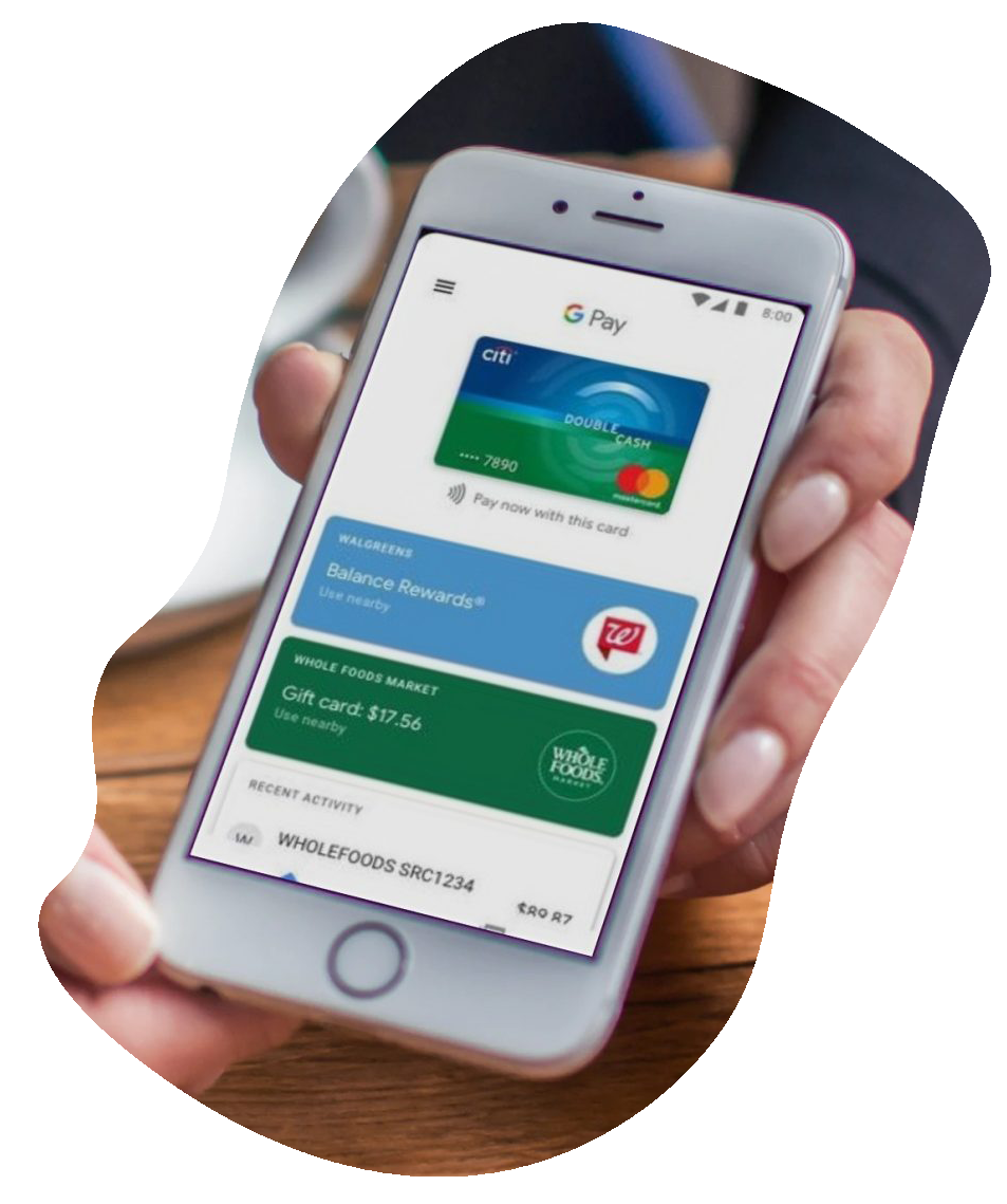 An example of a different mobile wallet.